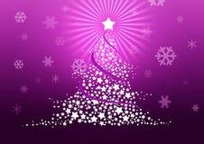 Christmas tree illustration. Royalty Free Stock Photo
