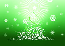 Christmas tree illustration. Stock Photography