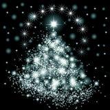Christmas tree illustration stock images