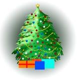 Christmas tree illustration Royalty Free Stock Image