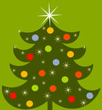 Christmas tree illustration. Decorated colorful Christmas tree illustration Stock Photography