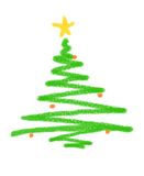 Christmas tree illustration royalty free stock image