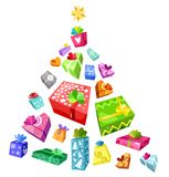 Christmas tree. Vector Illustration of a christmas tree Royalty Free Stock Images