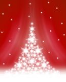 Christmas tree illustration Stock Image