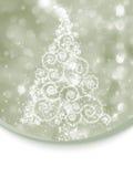Christmas tree illustration on bokeh. EPS 8 Royalty Free Stock Photography