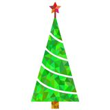 Christmas tree illustration for card. New Year 2015 text Stock Photos