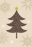Christmas tree illustration for Christmas card Royalty Free Stock Image