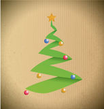 Christmas tree illustration design Stock Images