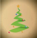 Christmas tree illustration design Stock Images