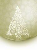 Christmas tree illustration on elegant. EPS 8 Stock Image