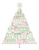 Christmas tree illustration. Stock Image