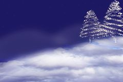 Christmas Tree. Abstract background. stock illustration