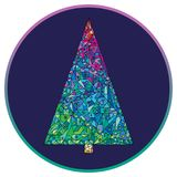 Christmas tree  illustration. Hand drawn Happy New Year background. Winter holidays Xmas greeting card. Royalty Free Stock Images