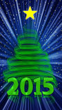 Christmas tree 2015 Stock Photo