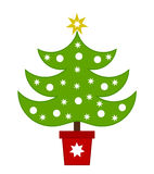 Christmas tree illustration Stock Photos