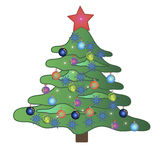 Christmas tree. This image is a  illustration and can be scaled to any size without loss of resolution Stock Photography