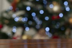 Christmas Tree In Blurred Background With Space To Write Christmas Message Royalty Free Stock Photography
