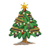 Christmas Tree In Military Style With Toys Weapons Stock Image