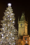 Christmas Tree In Prague Stock Photos