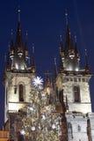Christmas Tree In Prague Royalty Free Stock Image