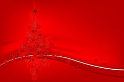 Christmas Tree In Stars Background Stock Images