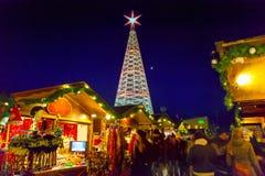 Christmas tree in Innsbruck. Austria stock photos