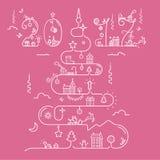 Christmas tree with 2017 inscription Royalty Free Stock Photo
