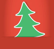Christmas tree inside of paper envelope Royalty Free Stock Photo