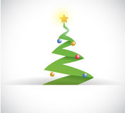 Christmas tree inside a paper pocket Royalty Free Stock Image