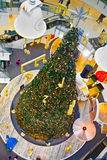 Christmas Tree inside the shopping mall Central World in Bangkok. BANGKOK, THAILAND - DECEMBER 22: christmas tree inside the biggest shopping complex central Royalty Free Stock Images