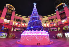 Christmas Tree, Inside view of  Shopping Mall Royalty Free Stock Image