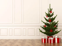 Christmas tree in interior Stock Photography
