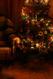 Christmas Tree in the interior, close up Stock Photography