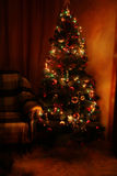 Christmas Tree in the interior, close up Stock Photos