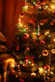 Christmas Tree in the interior, close up Stock Photo