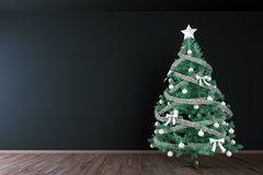 Christmas tree interior mock up Stock Photo