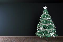 Christmas tree interior mock up Stock Photo