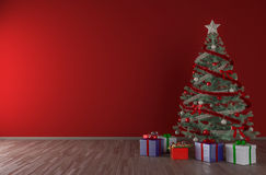 Christmas tree interior mock up Royalty Free Stock Photography