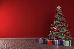 Christmas tree interior mock up Royalty Free Stock Photography