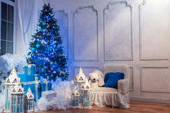 Christmas tree interior studio shot Stock Images