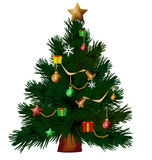 Christmas tree isolate2 Royalty Free Stock Image