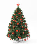 Christmas tree isolated Stock Photo