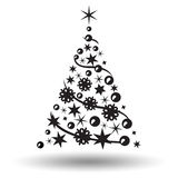 Christmas tree isolated. Abstract design logo. Royalty Free Stock Images