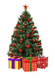 Christmas tree isolated Stock Photography