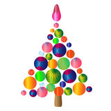 Christmas tree.isolated object illustration Royalty Free Stock Images
