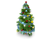 Christmas tree isolated on white background Royalty Free Stock Images