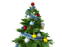 Christmas tree isolated on white background Stock Photography