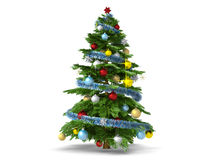 Christmas tree isolated on white background Stock Photos