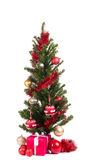 Christmas tree isolated on white background Stock Photo