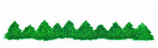Christmas tree isolated on white background Stock Images